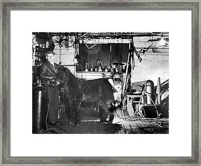 Arcwelding Horseshoes Framed Print
