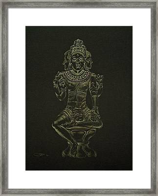 Framed Print featuring the drawing Ardhanarishvara I by Michele Myers