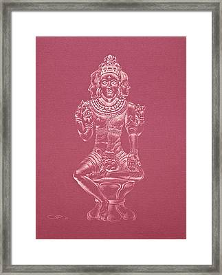 Framed Print featuring the drawing Ardhanarishvara II by Michele Myers