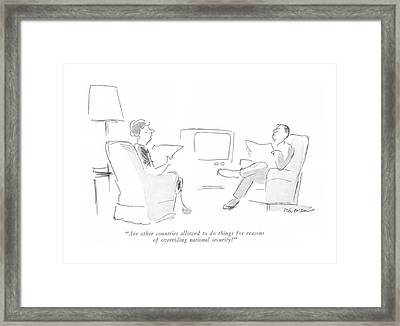 Are Other Countries Allowed To Do Things Framed Print by James Stevenson