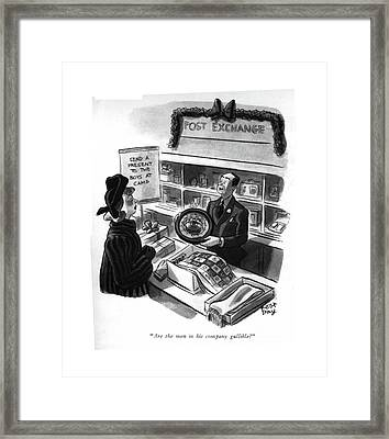 Are The Men In His Company Gullible? Framed Print by Robert J. Day