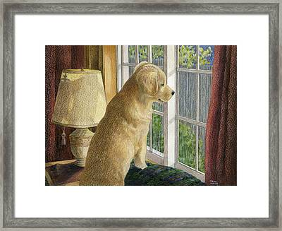 Are They Home Yet? Framed Print
