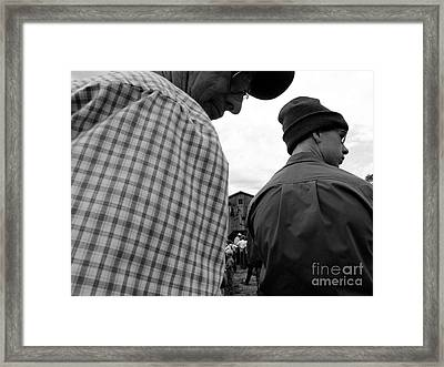 Are We Blocking Your View ? Framed Print by Tina M Wenger