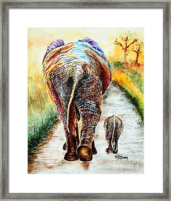 Are We There Yet? Framed Print by Maria Barry