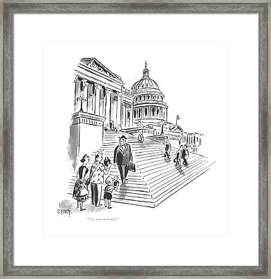 Are You Anybody? Framed Print