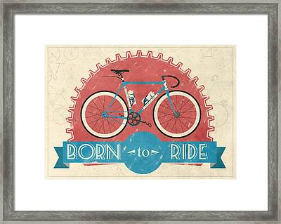 Are You Born To Ride Your Bike? Framed Print by Andy Scullion