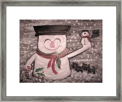 Are You Santa Framed Print by Rachel Carmichael