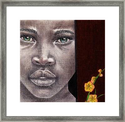 Are You Serious? Framed Print by Edith Peterson-Watson