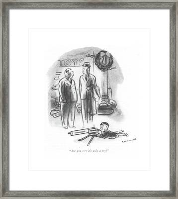 Are You Sure It's Only A Toy? Framed Print by Leonard Dove