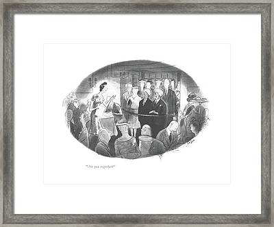 Are You Together? Framed Print by Richard Decker