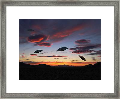 Area 51 Fly Zone Framed Print