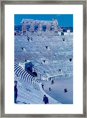 Arena Verona Interior 1962 Framed Print by Cumberland Warden