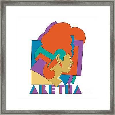 Aretha Franklin No.04 Framed Print by Caio Caldas