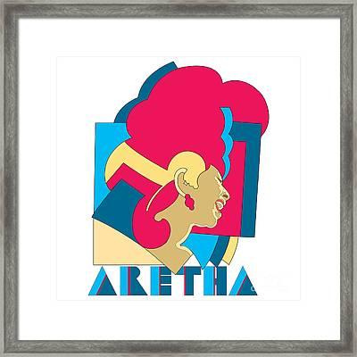 Aretha Franklin No.06 Framed Print by Caio Caldas