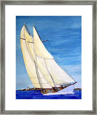 Arethusa At Abaco  Bwi 1921 Framed Print