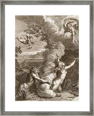 Arethusa Pursued By Alpheus And Turned Framed Print by Bernard Picart