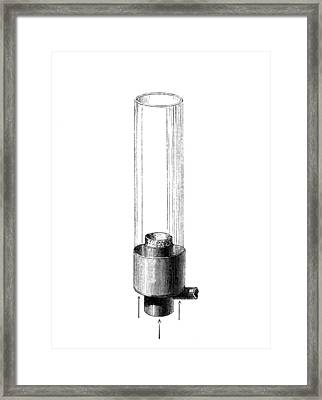 Argand Lamp, 1784 Framed Print