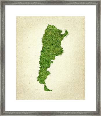 Argentina Grass Map Framed Print