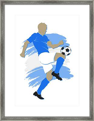 Argentina Soccer Player Framed Print by Joe Hamilton