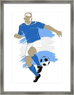 Argentina Soccer Player4 Framed Print