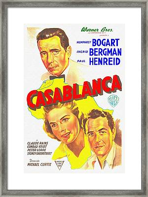 Argentinian Poster Of Casablanca Framed Print by Art Cinema Gallery