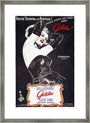 Argentinian Poster Of Gilda Framed Print by Art Cinema Gallery