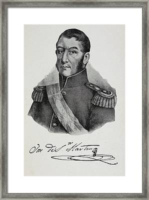 Argentinian Soldier In Military Uniform Framed Print