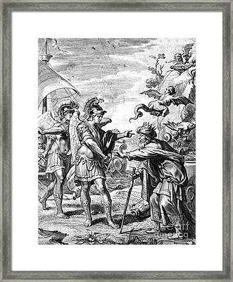 Argonauts Deliver Phineas From Harpies Framed Print by Photo Researchers