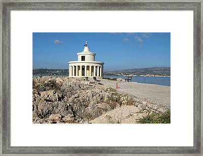 Argostolion Greece Lighthouse Framed Print