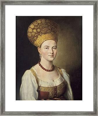 Argunov, Ivan P. 1727-1802. Portrait Framed Print by Everett