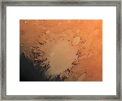 Argyre Impact Basin Framed Print by Detlev Van Ravenswaay