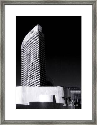Aria Las Vegas Framed Print by John Rizzuto