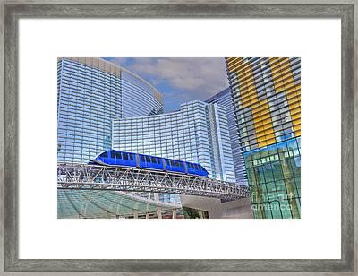 Aria Las Vegas Nevada Hotel And Casino Tram  Framed Print