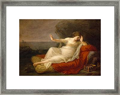 Ariadne Abandoned By Theseus Framed Print by Angelica Kauffmann