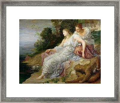 Ariadne In Naxos, 1875 Oil On Canvas Framed Print by George Frederick Watts