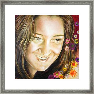 Ariana's Portrait Framed Print by Karina Llergo
