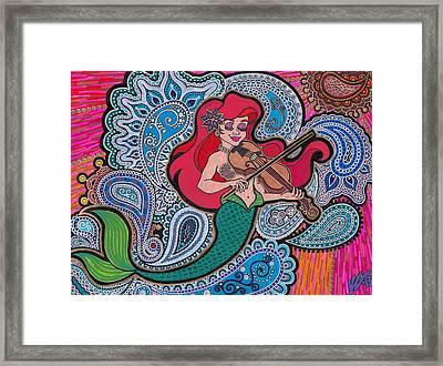Ariel And Her Violin Framed Print by Keri-Ann Schultz