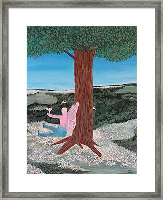 Ariel And The Tree Of Life Framed Print by Cheryl Bailey