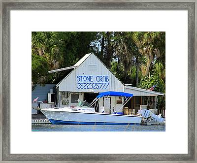 Aripeka Stone Crab Sales I Framed Print by Buzz  Coe