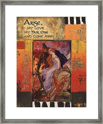 Arise My Love Framed Print by Donine Wellman