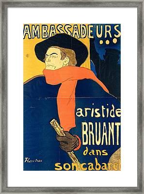 Aristide Bruant In His Cabaret Framed Print