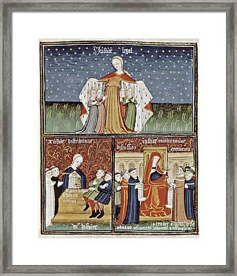 Aristotle 384-332 Bc. Greek Framed Print by Everett