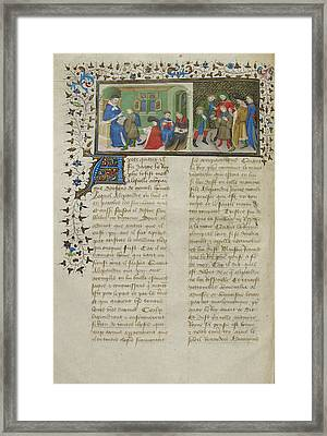 Aristotle Instructing Alexander Framed Print by British Library