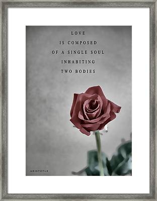 Aristotle Love Quote Framed Print
