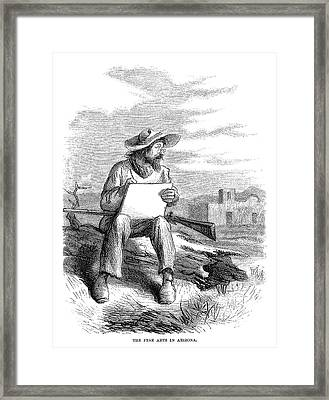Arizona Artist, 1864 Framed Print