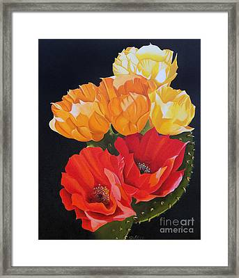 Arizona Blossoms - Prickly Pear Framed Print