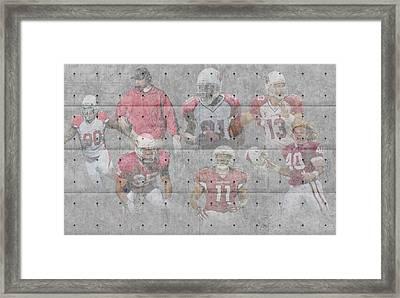 Arizona Cardinals Legends Framed Print by Joe Hamilton