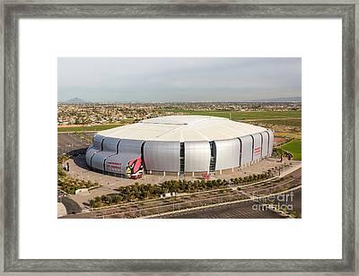 Arizona Cardinals Stadium Framed Print by John Ferrante