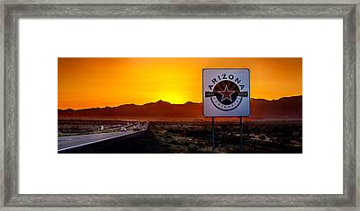Arizona Centennial Framed Print by Az Jackson