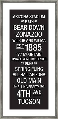 Arizona College Town Wall Art Framed Print by Replay Photos